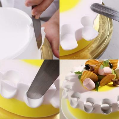 """3X Stainless Steel 6""""/8""""/10"""" Cake Spatula Set  Angled Lcing Kitchen #HID"""