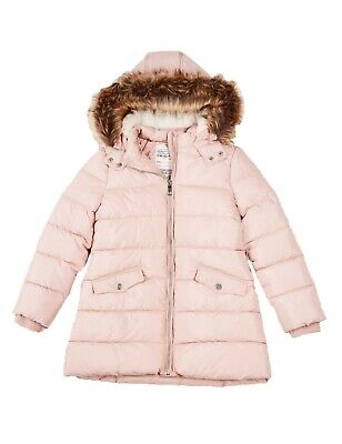 Ex Marks and Spencer Kids Girls Padded School Coat with Stormwear™ in Pink