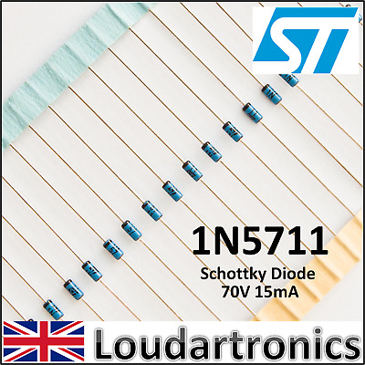 Glass Package Pack 50 1N5711 Schottky Diode