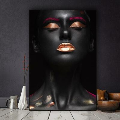 Nude African Woman Indian Posters and Prints Nordic Canvas Painting Black and Go