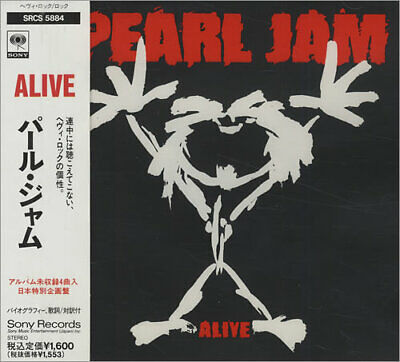 "Alive Pearl Jam CD single (CD5 / 5"") Japanese SRCS-5884 SONY 1991"