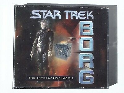 Star Trek: Borg the interactive movie (Win 95/Mac,1996) Case, 3 discs