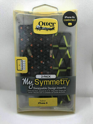 OtterBox Symmetry Series Triangle Orange/HEX Swappable Inserts For iPhone 6/6s