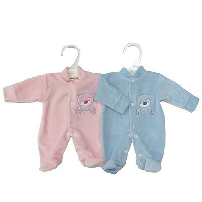 BabyPrem Baby Boys Clothes Blue All-In-One Suit Sleepsuit Newborn 0-3m