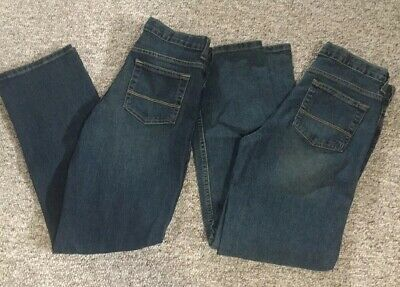 2 Brand New Pairs of Blue Arizona Jeans Boys 18 Regular Straight Fit