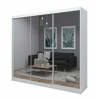 BNWB WARDROBE With MIRROR, 2 sliding doors bedroom hallway living room furniture