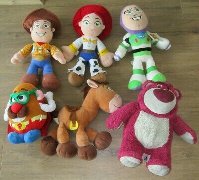Toy Story 2 3 4 Woody Jessie Bullseye Buzz Lotso Mr Potato Head Plush Soft Toys