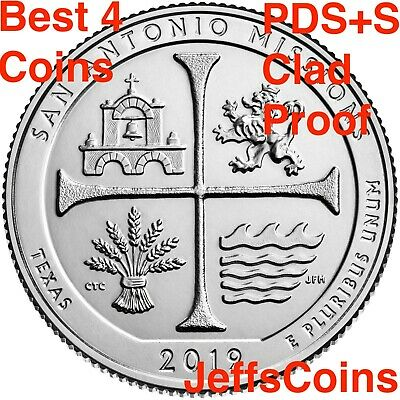 2019 PDSS San Antonio Mission Texas Historical Park Quarter Clad Proof P D S S 4