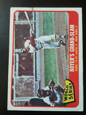 World Series-Game 4-1965 Topps-no.135-excellent-Ken Boyer hits grand slam