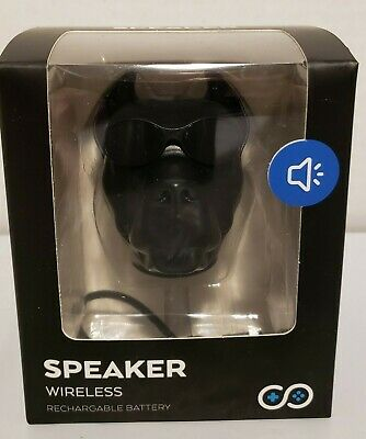 Smart Theater Wireless Bluetooth Speaker Black Pitbull Dog Shaped Rechargeable