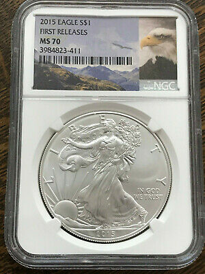 2015 1 oz Silver American Eagle NGC MS 70 First Releases