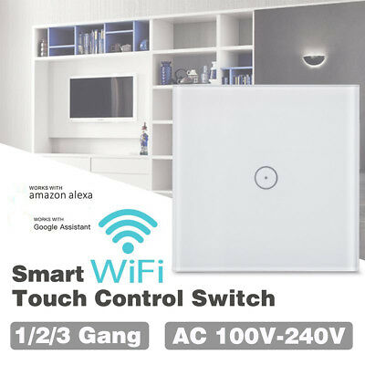 1-3X WiFi Smart Dimmer Light Wall Switch Touch Automation for Alexa Google Home