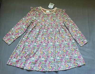 Toddler Girl 3-4 Years Next UK Multicolored Floral Long Sleeve Dress