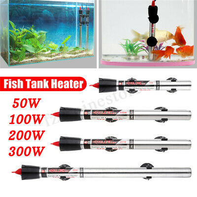 Submersible Stainless Steel Water Heater Rod Aquarium Fish Tank 220V 50W~300W !