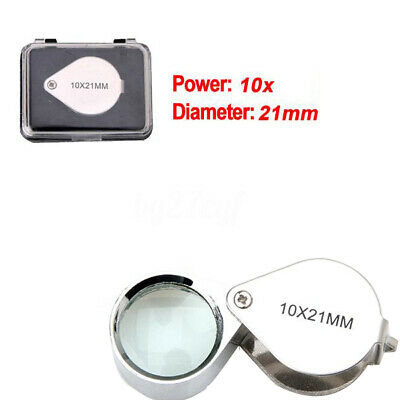 Pocket Jewellers Eye Loupe Magnifier Jewelry Magnifying Glass 10 x 21mm Jewelers