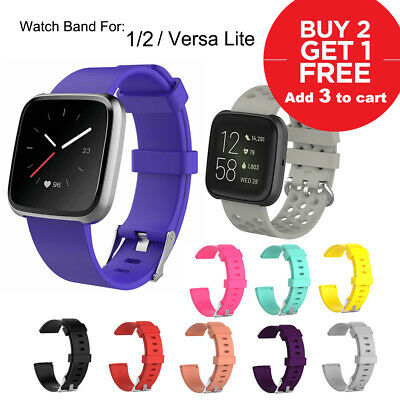 Replacement Band for Fitbit Versa/Lite Silicone Strap Wristband S L Size