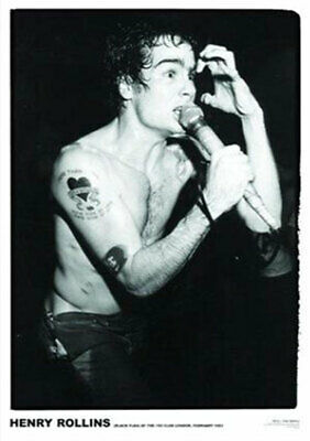 Henry Rollins - Black Flag POSTER NEW