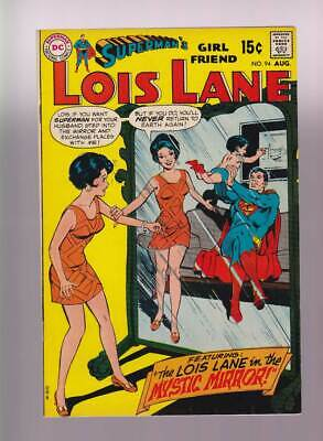 Lois Lane # 94  The Mystic Mirror ! Adams cover inks !  grade 7.5 scarce book !