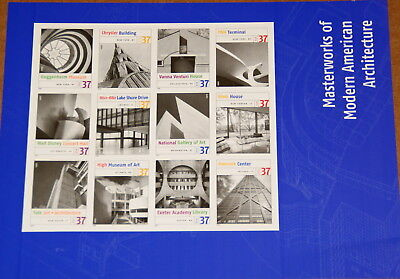 2005 sheet of stamps American Architecture Sc # 3910