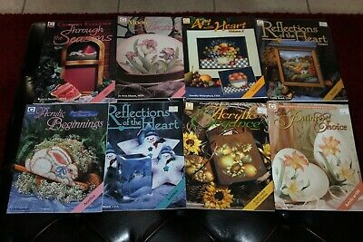 8 Gretchen Cagle Decorative Painting Tole Pattern Books Oils Acrylics