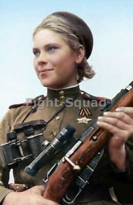 WW2 Picture Photo Soviet Red army Sniper Russian Roza Shanina 3 3429