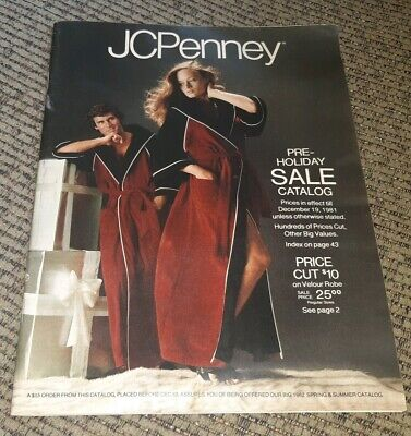 Vintage December 1981 JC PENNEY CATALOG store pre holiday christmas clothing OLD
