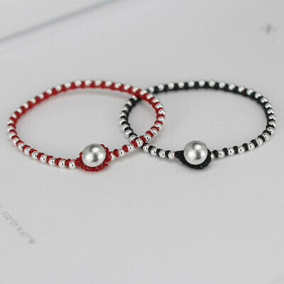 Real 925 Sterling Silver  Bracelet   Amulet  Handmade Wax Wire  Lucky Bangle