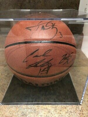 Lebron James, Carmelo Anthony, Dwyane Wade Autographed Basketball