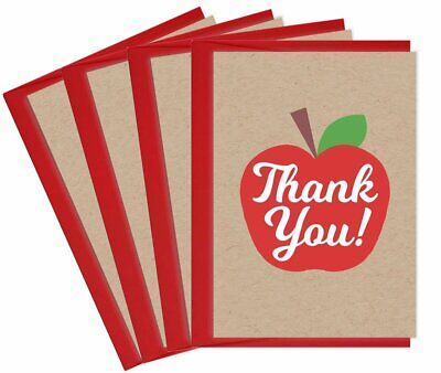 5 TEACHER APPRECIATION Cards apple card Thank you Note thanks First