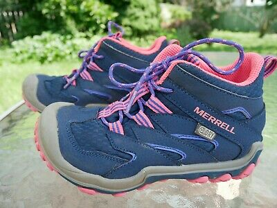 17f0fa392e9 MERRELL CHAMELEON GIRLS Waterproof Low Lace Hiking Athletic Shoes ...