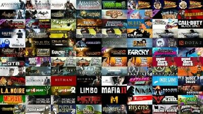 100 PC Games Steam +GTA 5 offline+Assassin's Odyssey+FAR CRY 5+ NBA 2K20(Steam)