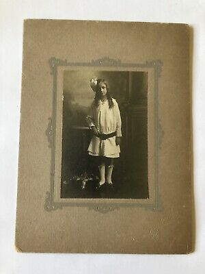 Cabinet Card Photo Young Teenage Girl Pretty Vintage Antique