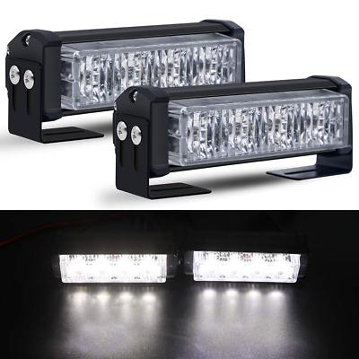 "2X 4-LED Strobe Lights, Mesllin 5"" 10W/section Traffic Emergency Beacon Warning"