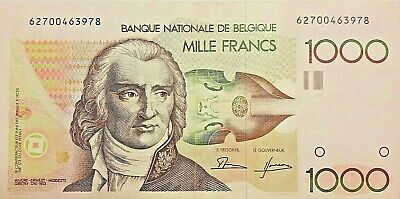 1000 Francs Frank Belgique Belgïe Grétry, KM:144a  ===>>  Choose Signature <====