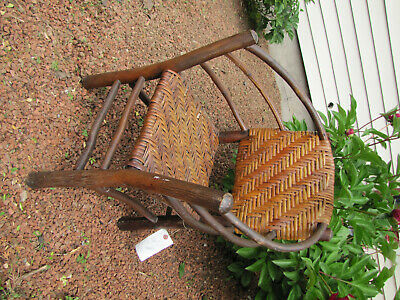 ANTIQUE a nice Arts&Crafts OLD HICKORY Child  arm chair  w5563 stickley era