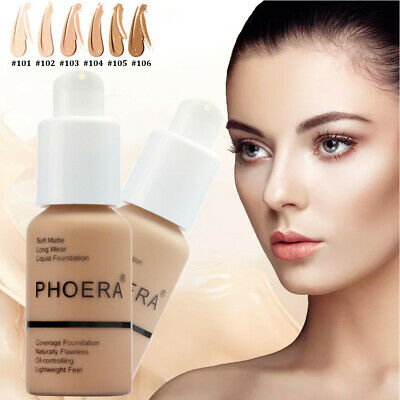Phoera Foundation Full Coverage Soft Matte Flawless Liquid Concealer Face Beige