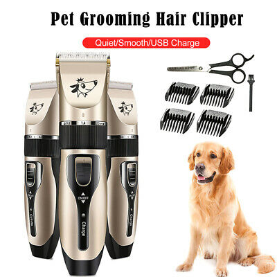 Pet Grooming Hair Clipper Rechargeable Low Noise Cordless Dog Cat  E8T6