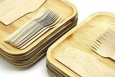Disposable Plate Set Palm Leaf | Eco Friendly Bio Disposable Plates for Wedding