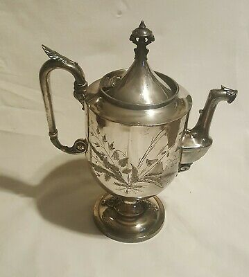 Vintage Reed Barton Silver Plate Tea Pot Coffee/Water Pitcher