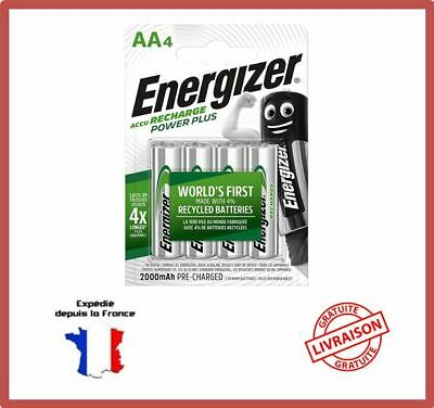 Piles Rechargeables AA HR6 MN1500 2000 mAh 1,2V NiMH Energizer Power Plus Accus