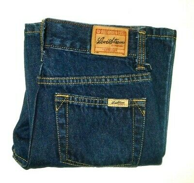 Levi's 501 Kids Blue Jeans W24 X L18 Red Tab Zipper Fly Free Postage