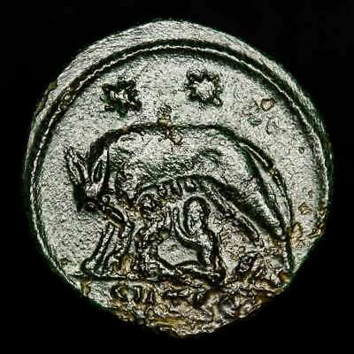 *Lucernae* City Commemorative Follis Shewolf and twins Thessalonica 330 - 346