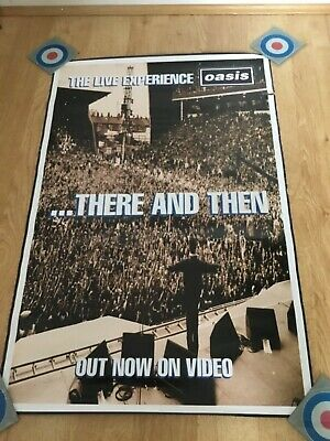 1 1996 Original Record Company Oasis 'There and Then' Promo Poster Noel Liam