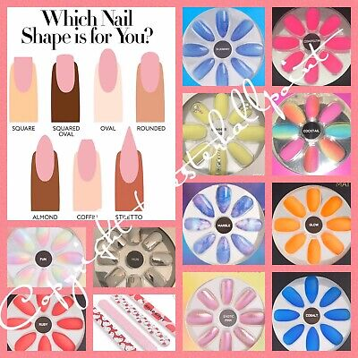 PRIMARK False Nails - Women Party Beauty Everyday Stick on Nail with Glue BNIB