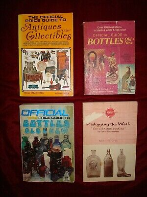Official Price Guide Antiques Collectibles Redigging West Bottle Books Lot