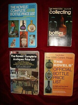 Kovels Official Antiques Collectible Bottles Price Guide List Books Lot