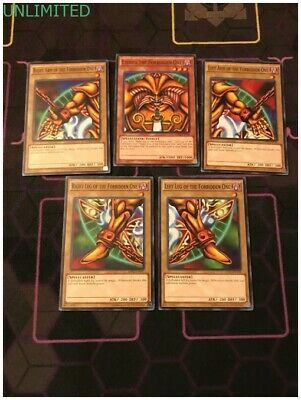 All Legal* EXODIA* THE* FORBIDDEN* ONE* UNLIMITED  5 CARD MINT* SET LDK2 YUGIOH