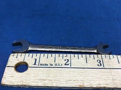 """Vintage Billings Life-Time Double Open End Wrench USA SAE 5/16"""" 1/4"""" L1020"""