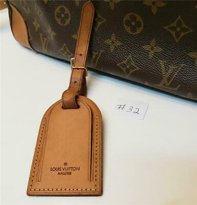 Authentic LOUIS VUITTON Large Leather Luggage ID Tag Name Tag Strap [#32]