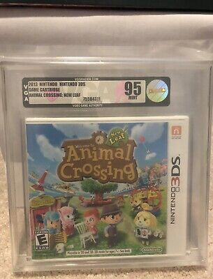 Animal Crossing: New Leaf Nintendo 3DS VGA 95 MINT Gold!  First Release